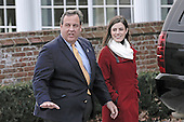 New Jersey Governor Chris Christie arrives for a meeting with United States President-elect Donald Trump (not pictured) at the clubhouse of Trump International Golf Club, in Bedminster Township, New Jersey, USA, 20 November 2016.<br /> Credit: Peter Foley / Pool via CNP