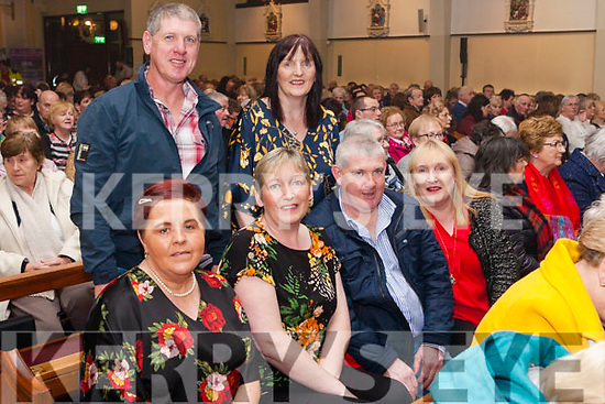 Michael English Concert held last Friday night in The Church of the Assumption Abbeyfeale. <br /> Michael English fans from Duagh. <br /> Seated : Siobhán Daly, Tina & Denis Meehan and Eileen Broderick. <br /> Back: Donie & Maggie Meehan.
