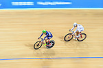 Chau Dor Ming Dormino of Team Champion System-CSR (l) during the Indiviual Pursuit Youth Final Track Cycling Race 2016-17 Series 3 at the Hong Kong Velodrome on February 4, 2017 in Hong Kong, China. Photo by Marcio Rodrigo Machado / Power Sport Images