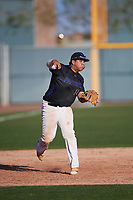 Jacob Coronado (14) of Cesar Chavez High School in Houston, Texas during the Baseball Factory All-America Pre-Season Tournament, powered by Under Armour, on January 13, 2018 at Sloan Park Complex in Mesa, Arizona.  (Mike Janes/Four Seam Images)