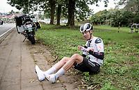 Casper Pedersen (DEN/Sunweb) crashed out<br /> <br /> 108th Scheldeprijs 2020 (1.Pro)<br /> 1 day race from Schoten to Schoten BEL (173km)<br /> <br /> ©kramon