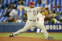 March 8, 2009:  Pitcher Jonathan Broxton (51) of Team USA during the first round of the World Baseball Classic at the Rogers Centre in Toronto, Ontario, Canada.  Team USA defeated Venezuela  15-6 to secure a spot in the second round of the tournament.  Photo by:  Mike Janes/Four Seam Images