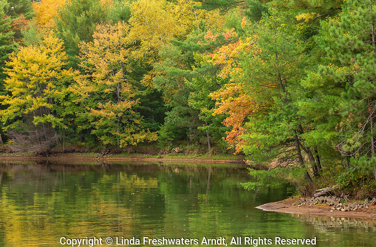 Autumn on the Rainbow Flowage in northern Wisconsin.