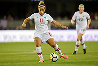 San Jose, CA - Sunday November 12, 2017: Desiree Scott during an International friendly match between the Women's National teams of the United States (USA) and Canada (CAN) at Avaya Stadium.