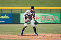 Peoria Javelinas third baseman Weston Wilson (18), of the Milwaukee Brewers organization, during an Arizona Fall League game against the Mesa Solar Sox at Sloan Park on October 24, 2018 in Mesa, Arizona. Mesa defeated Peoria 4-3. (Zachary Lucy/Four Seam Images)