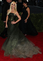 """NEW YORK CITY, NY, USA - MAY 05: Donatella Versace at the """"Charles James: Beyond Fashion"""" Costume Institute Gala held at the Metropolitan Museum of Art on May 5, 2014 in New York City, New York, United States. (Photo by Xavier Collin/Celebrity Monitor)"""