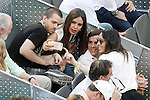 Spanish Chef of Diverxo David Munoz and his girlfriend and journalist Cristina Pedroche during Madrid Open Tennis 2015 Final match.May, 10, 2015.(ALTERPHOTOS/Acero)