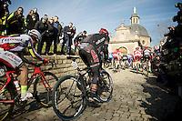 Martin Mortensen (DNK/Cult) up the infamous Muur van Geraardsbergen<br /> <br /> Omloop Het Nieuwsblad 2015