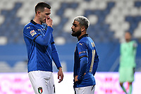 Federico Bernardeschi and Lorenzo Insigne of Italy during the Uefa Nation League Group Stage A1 football match between Italy and Poland at Citta del Tricolore Stadium in Reggio Emilia (Italy), November, 15, 2020. Photo Andrea Staccioli / Insidefoto