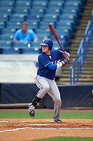 Kevin Brophy (9) of Morristown Beard High School in Randolph, New Jersey playing for the Texas Rangers scout team during the East Coast Pro Showcase on July 28, 2015 at George M. Steinbrenner Field in Tampa, Florida.  (Mike Janes/Four Seam Images)