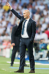 Coach Zinedine Zidane of Real Madrid reacts during their 2016-17 UEFA Champions League Quarter-finals second leg match between Real Madrid and FC Bayern Munich at the Estadio Santiago Bernabeu on 18 April 2017 in Madrid, Spain. Photo by Diego Gonzalez Souto / Power Sport Images