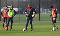 Manager Paul Clement (C) gives instructions to his players during the Swansea City Training at The Fairwood Training Ground, Swansea, Wales, UK. Wednesday 01 November 2017