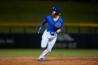 AZL Cubs 2 Grayson Byrd (78) rounds second base during an Arizona League game against the AZL Dbacks on June 25, 2019 at Sloan Park in Mesa, Arizona. AZL Cubs 2 defeated the AZL Dbacks 4-0. (Zachary Lucy/Four Seam Images)