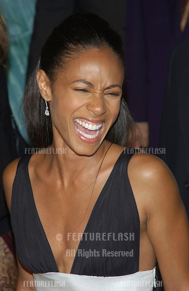 Actress JADA PINKETT SMITH at the world premiere, in Los Angeles, of her new movie The Matrix Revolutions..October 27, 2003
