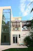 facade of a three storey house