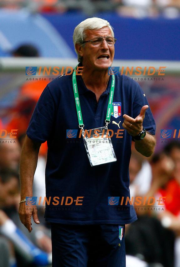HAmburg 22/6/2006 World Cup 2006.Repubblica Ceca Italia 0-2 0-2.Photo Andrea Staccioli Insidefoto.Marcello Lippi italian trainer