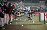 race leader Lars Van der Haar (NLD/Giant-Alpecin)<br /> <br /> Men's Elite Race<br /> <br /> UCI 2016 cyclocross World Championships,<br /> Zolder, Belgium