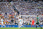Fans of Real Madrid cheer during the La Liga 2017-18 match between Real Madrid and Real Betis at Estadio Santiago Bernabeu on 20 September 2017 in Madrid, Spain. Photo by Diego Gonzalez / Power Sport Images