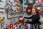 Elizabeth Conlon from Conlon Designs in Cahersiveen preparing her shop for the early Christmas shoppers.