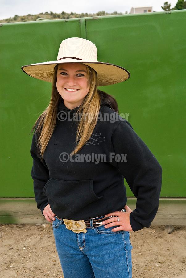Whitney Ostler, cowgirl, Jordan Valley Big Loop Rodeo..