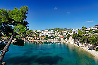 The port at Votsi of Alonissos island, Greece