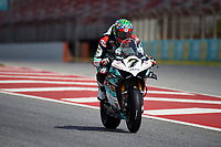 1st April 2021; Circuit de Barcelona Catalunya, Barcelona, Spain; FIM Superbike World Championship Testing; Chaz Davies of the Goeleven Racing Team rides the Worldsbk Ducati Panigale V4 R