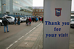 Ipswich Town 0, Oxford United 1, 22/02/2020. Portman Road, SkyBet League One. Home supporters making their way from the stadium after Ipswich Town played Oxford United in a SkyBet League One fixture at Portman Road. Both teams were in contention for promotion as the season entered its final months. The visitors won the match 1-0 through a 44th-minute Matty Taylor goal, watched by a crowd of 19,363. Photo by Colin McPherson.