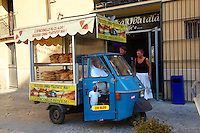 Street vendor, food seller, Palermo, Sicily,