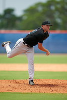 GCL Marlins pitcher Tyler Mitzel (63) during a Gulf Coast League game against the GCL Mets on August 11, 2019 at St. Lucie Sports Complex in St. Lucie, Florida.  The Marlins defeated the Mets 3-2 in the second game of a doubleheader.  (Mike Janes/Four Seam Images)