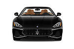 Car photography straight front view of a 2018 Maserati Gran-Turismo Sport 2 Door Convertible Front View