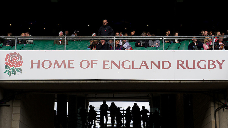 General view of fans before the QBE International between England and Fiji at Twickenham on Saturday 10th November 2012 (Photo by Rob Munro)