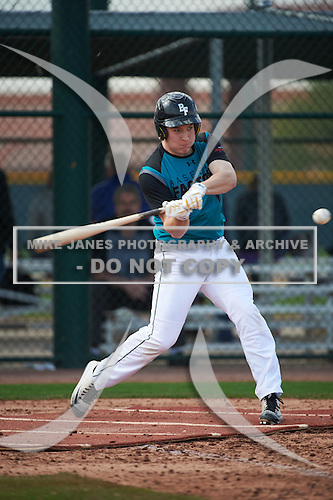Stephen Lund (6) of VERONA AREA High School in Verona, Wisconsin during the Under Armour All-American Pre-Season Tournament presented by Baseball Factory on January 14, 2017 at Sloan Park in Mesa, Arizona.  (Art Foxall/Mike Janes Photography)