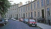 "Glasgow: Belmont Crescent, 1870! John Honeyman. ""Late classical terraced housing""--I should say so. Photo '90."