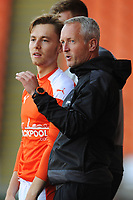 Blackpool manager Neil Critchley issues instruction to Dan Kemp<br /> <br /> Photographer Kevin Barnes/CameraSport<br /> <br /> The EFL Sky Bet League One - Blackpool v Swindon Town - Saturday 19th September 2020 - Bloomfield Road - Blackpool<br /> <br /> World Copyright © 2020 CameraSport. All rights reserved. 43 Linden Ave. Countesthorpe. Leicester. England. LE8 5PG - Tel: +44 (0) 116 277 4147 - admin@camerasport.com - www.camerasport.com