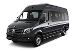 2014 Mercedes Benz Sprinter 316CDi MWB 4 Door Combi 2WD Angular Front stock photos of front three quarter view