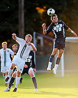 15 October 2008: University of New Hampshire Wildcats' Dylan George, in action against the University of Vermont Catamounts at Centennial Field, in Burlington, Vermont. The Wildcats and Catamounts battled in overtime to a 0-0 tie...Mandatory Photo Credit: Ed Wolfstein Photo
