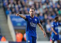 Danny Drinkwater of Leicester City during the Premier League match between Leicester City and Southampton at the King Power Stadium, Leicester, England on 2 October 2016. Photo by Andy Rowland.
