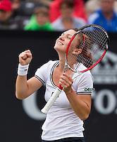 21-06-13, Netherlands, Rosmalen,  Autotron, Tennis, Topshelf Open 2013, , Simona Halep is emotional after she defeted Suarez Navarro for a place in the final<br /> <br /> Photo: Henk Koster