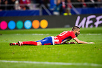 Yannick Ferreira Carrasco of Atletico de Madrid lie on the ground during the UEFA Champions League 2017-18 match between Atletico de Madrid and AS Roma at Wanda Metropolitano on 22 November 2017 in Madrid, Spain. Photo by Diego Gonzalez / Power Sport Images