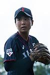 #49 Odajima Mami of Japan warming up during the BFA Women's Baseball Asian Cup match between Pakistan and Japan at Sai Tso Wan Recreation Ground on September 4, 2017 in Hong Kong. Photo by Marcio Rodrigo Machado / Power Sport Images