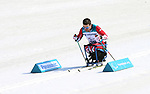 Pyeongchang, Korea, 14/3/2018-Sebastien Fortier competes in the cross country sprints during the 2018 Paralympic Games in PyeongChang. Photo Scott Grant/Canadian Paralympic Committee.