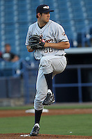 April 8, 2010 Luke Putkonen of the Lakeland Flying Tigers, Florida State League Single-A affiliate of the Detroit Tigers, delivers a pitch during a game atGeorge M. Steinbrenner Field in Tampa, FL. Photo by: Mark LoMoglio/Four Seam Images