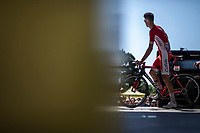 Anthony Perez (FRA/Team Cofidis) on the pre race sign on podium<br /> <br /> Stage 5: Lorient > Quimper (203km)<br /> <br /> 105th Tour de France 2018<br /> ©kramon