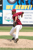 July 6, 2008: The Yakima Bears' Daniel Vasquez throws in relief during a Northwest League game against the Everett AquaSox at Everett Memorial Stadium in Everett, Washington