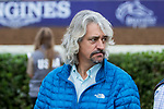 DEL MAR, CA - NOVEMBER 01: Trainer Steve Asmussen watches morning workouts at Del Mar Thoroughbred Club on November 1, 2017 in Del Mar, California. (Photo by Sue Kawczynski/Eclipse Sportswire/Breeders Cup)