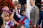 MAY 01, 2021:  John Velazquez celebrates winning his 4th Kentucky Derby at Churchill Downs in Louisville, Kentucky on May 1, 2021. EversEclipse Sportswire/CSM
