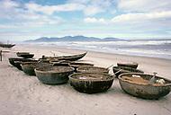 Danang, February 1988. View of the beach of Danang.