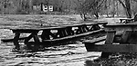 A photograph showing the flooded picnic area at Housatonic Meadow State Park in Sharon, March 1977.