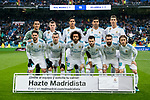 Players of Villarreal CF line up and pose for a photo prior to the La Liga 2017-18 match between Real Madrid and Villarreal CF at Santiago Bernabeu Stadium on January 13 2018 in Madrid, Spain. Photo by Diego Gonzalez / Power Sport Images