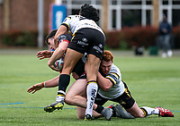 Josh Hodson of London Broncos during the Betfred Challenge Cup match between London Broncos and York City Knights at The Rock, Rosslyn Park, London, England on 28 March 2021. Photo by Liam McAvoy.